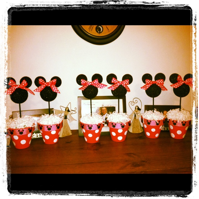 Kinsley's 2nd Birthday Party Centerpieces!