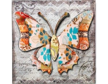 Μεταλλικό κάδρο τετράγωνο πεταλούδα