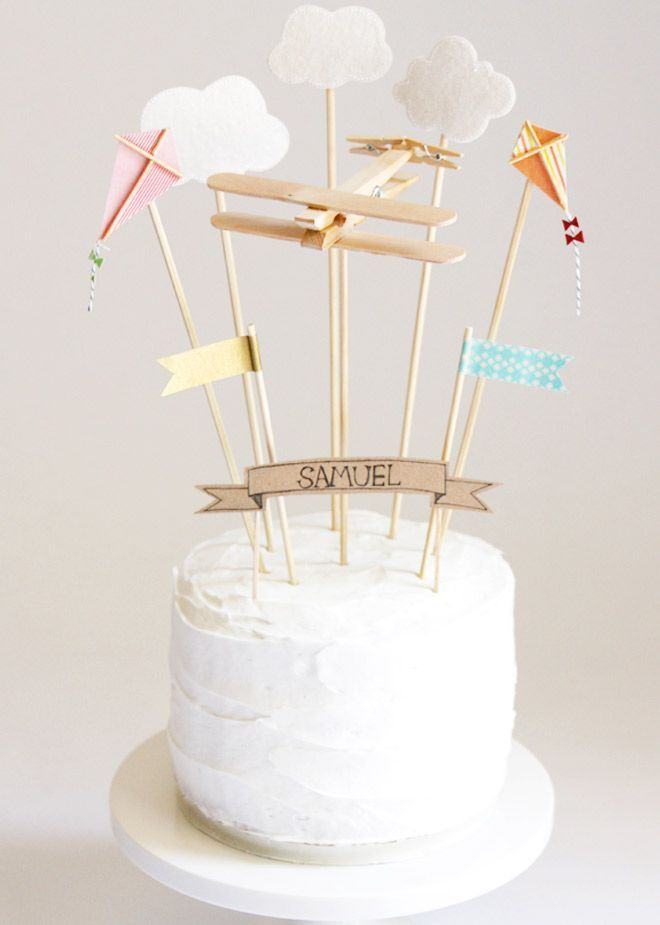16 cake toppers you can make at home: Sky Party Cake Toppers | Mum's Grapevine