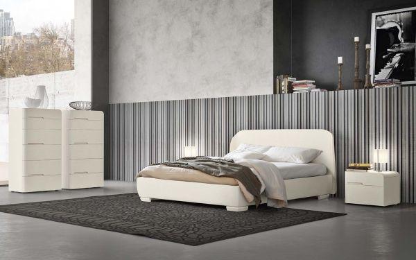 Camera da letto bianca, nera e grigia 8030