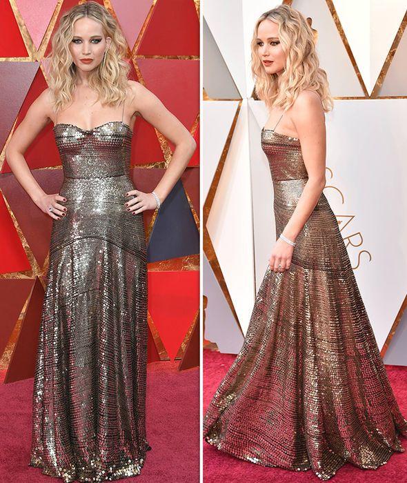 Oscars 2018: Jennifer Lawrence shocks as she clambers over ...