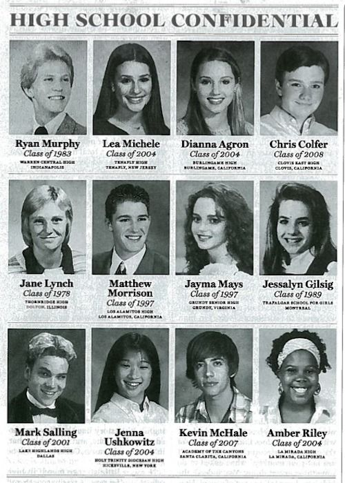 Glee cast high school photos my babies!