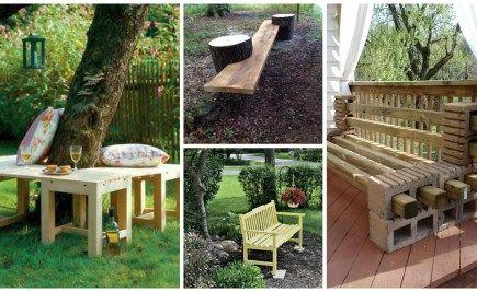 15 modele frumoase de banci din lemn pentru gradina - Case practice