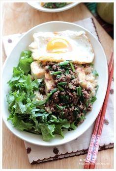 부추고기볶음을 얹은 두부덮밥 만드는법, 두부요리 – 레시피 | Daum 요리