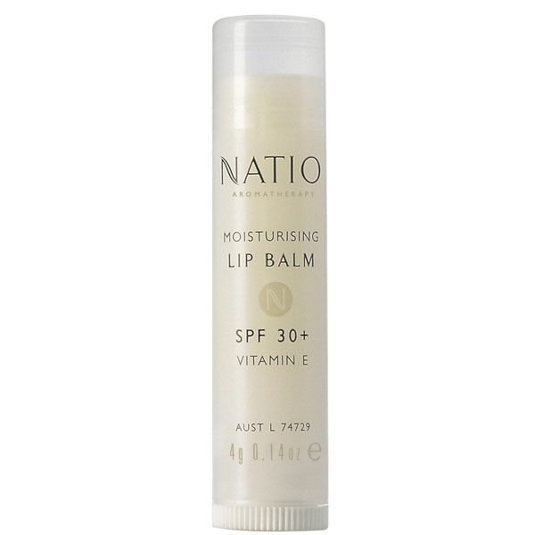 Buy Natio Moisturising Lip Balm Spf30+ (4G) , luxury hair care, skincare and cosmetics at HQHair.com, with Free Delivery.