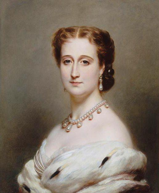 1864 Eugénie, Empress Consort of the French by Franz Xavier Winterhalter (Château de Compiègne):