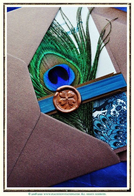 JOANNA Lovebirds Peacock Themed Wedding by PeacockInvitations