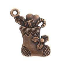 Christmas Stocking Charm, copper - 0.20EUR - Craft Heaven : Craft supplies, Cakeware, Crystals & Angels