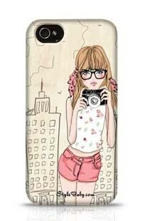 Fashion Girl Apple iPhone 4 Phone Case