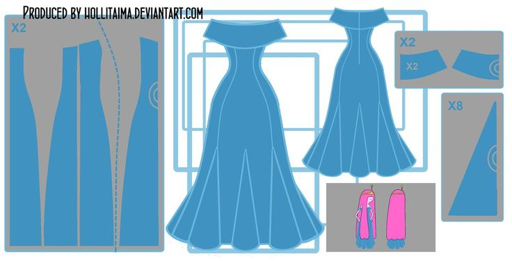 PB 'go with me' cosplay dress design draft by Hollitaima.deviantart.com on @DeviantArt