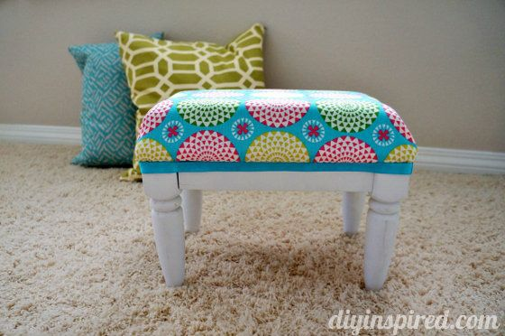 How to Upcycle a Step Stool for Kids- SUCH A CUTE IDEA!! Madisyn is ready for step stools!