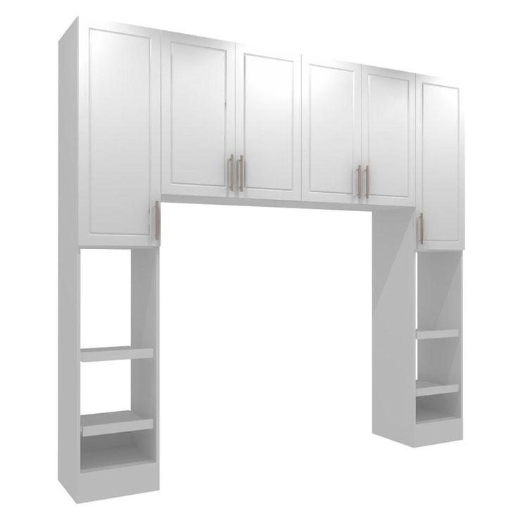 Madison White Full Size Bed Surround Cabinets