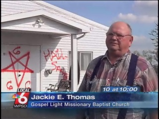 A pastor and neighbors in a small Kentucky community are in shock after someone sprays Satanic symbols on their church