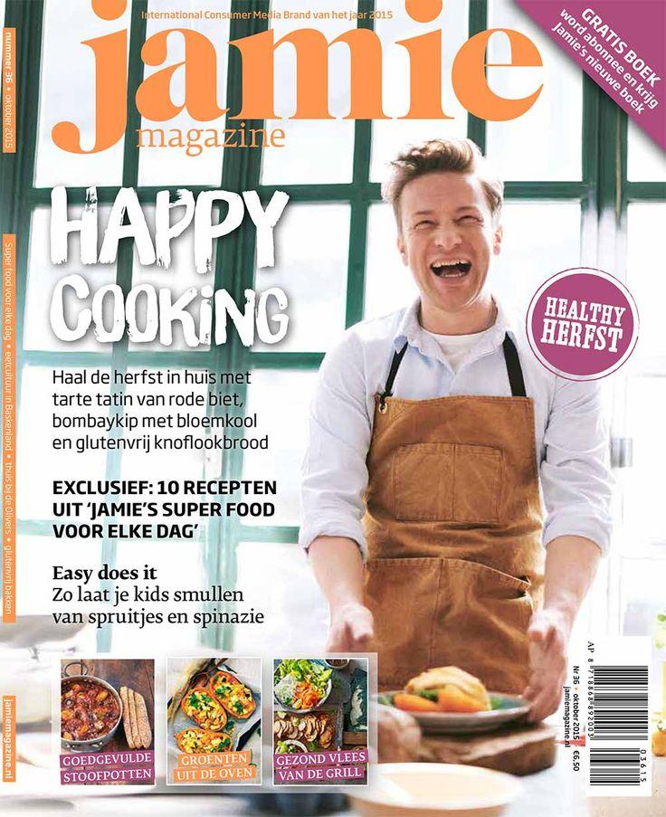 Happy-healthy-herfst cooking! Met dit nummer haal je de herfst in huis met een tarte tatin van rode biet, bombaykip met bloemkool en een overheerlijke passievrucht-limoentaart. Maar we gaan ook voor licht & lekker, geven je een exclusief kijkje in de keuken van Mrs. Oliver en geven je 10 voorproefjes uit Jamie's  nieuwste boek: 'Jamie's super food voor elke dag' (vanaf 6 oktober verkrijgbaar).