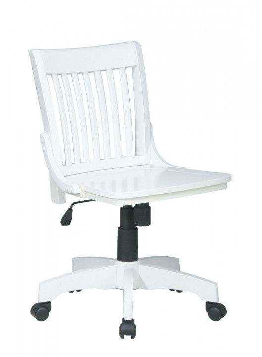 Bring Clic And Professional Eal To Your Office Setting By Choosing This Ospdesigns Deluxe White Wood Bankers Chair