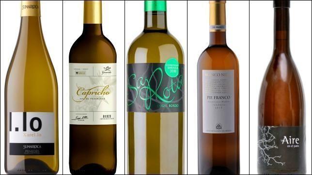 Cada vez consumidos más vinos blancos. El crítico de ABC selecciona diez marcas a buen precio para no equivocarse
