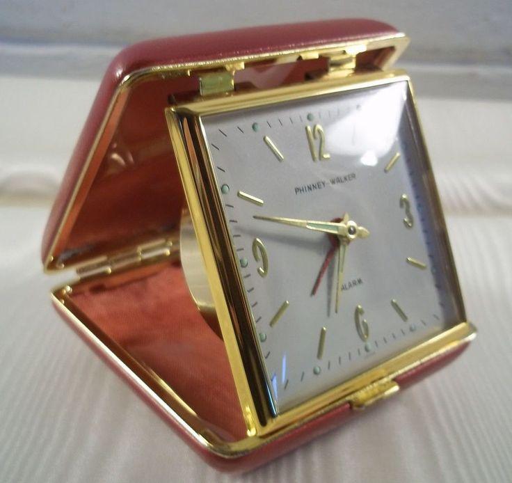 Vintage Alarm Clocks Travel Alarm Wind-Up Clock Mid Century Clock Phinney Walker #PhinneyWalker #MidCentury