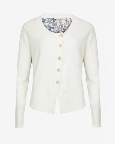 Butterfly cluster cardigan - Cream | Knitwear | Ted Baker UK