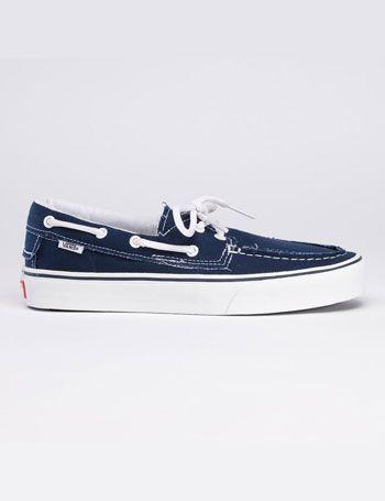 Womens Vans ZAPATO DEL BARCO Deck Shoes - Navy