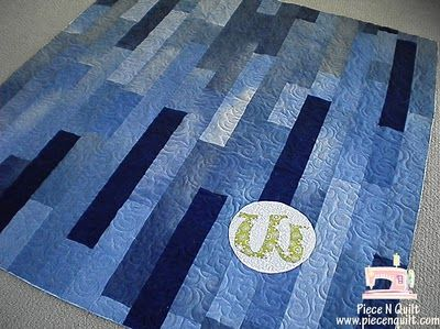 Upcycled denim quilt?  Absolutely.  This one shown off on Piece N Quilt, and links to the tutorial she used.