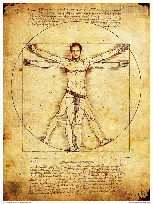 Nathan Fillion naked, mostly, as the Vitruvian Man -- EXCLUSIVE PHOTO   PopWatch   EW.com