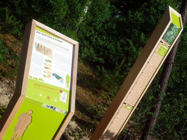 Le Porge (33) - Sentier d'interprétation #signaletique #interpretation - DL System : www.dl-system.fr -