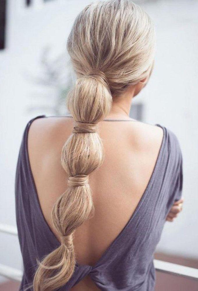 Coleta burbuja.  #hairstyle #trenzas #bride #peinados
