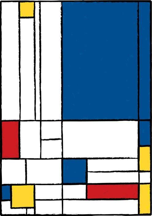 Carta Da Parati O Pittura.Carta Da Parati Autoadesiva Pittura Cubista Pixers Viviamo Per
