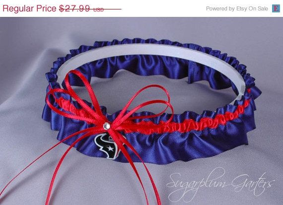 ON SALE Custom Houston Texans Wedding Garter by sugarplumgarters, $25.19