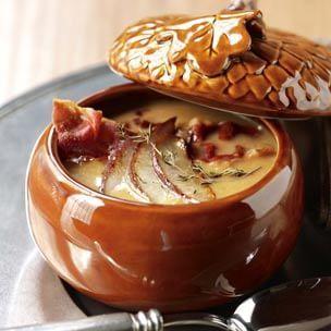 Butternut Squash Soup with Crispy Prosciutto • Williams-Sonoma Recipe • THANKSGIVING 'fête #ThanksgivingDinner