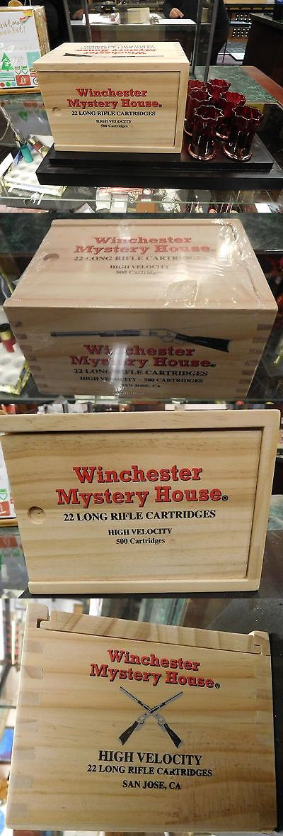 Holders and Boxes 71116: Winchester Mystery House 22 Long Rifle Cartridge Ammo Box With 6 Shot Glasses BUY IT NOW ONLY: $75.0