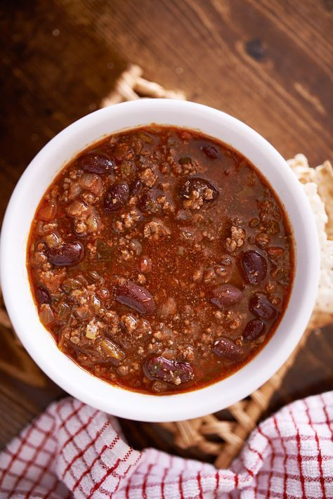 This healthy three bean and ground lean meat Weight Watchers chili recipe is ZERO points on the Freestyle program! It's filling and delicious. Make in the pressure cooker or crockpot!