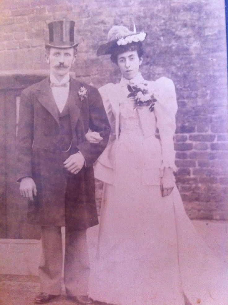 Wedding style 1894...they may be related, she was a singer!