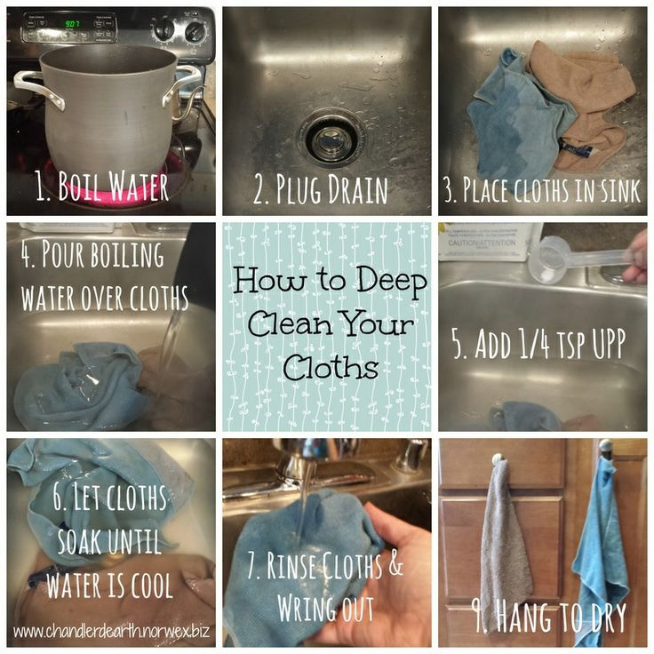 How to Deep Clean Norwex Cleaning Cloths www.chandlerdearth.norwex.biz www.crazycleaninglady.com