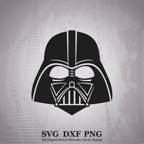 Svg Dxf Png Darth Vader Head Starwars Character Stencil Silhouette Art Star Wars Art Art Inspiration