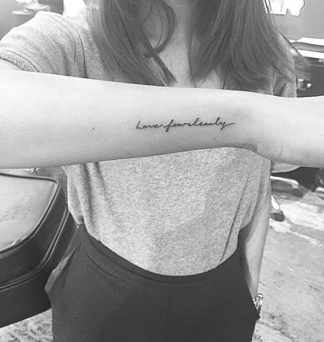 Love fearlessly #jonboytattoo