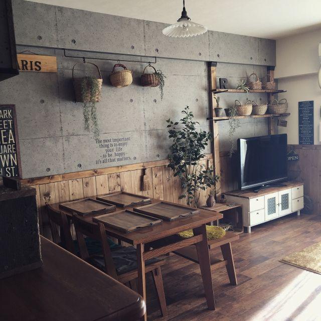 リメイク/BRIWAX/DIY/unico/かご/ダイニングテーブル…などのインテリア実例 - 2016-03-16 19:24:09 | RoomClip(ルームクリップ)