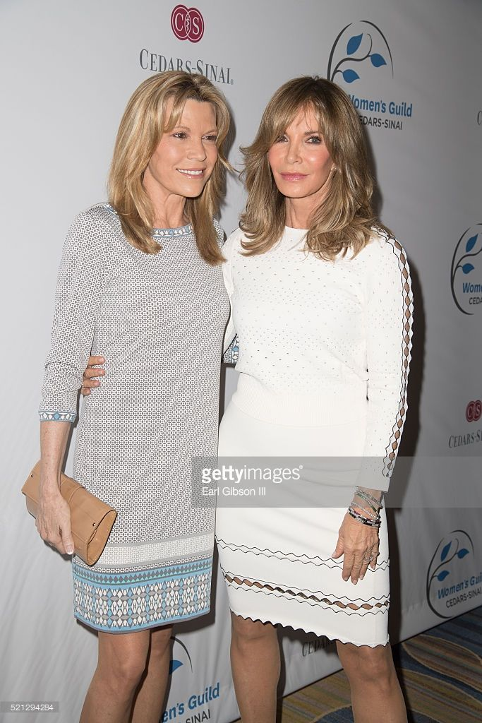 Vanna White and Jaclyn Smith attend the 2016 Women's Guild Cedars-Sinai Annual Spring Luncheon at the Beverly Wilshire Four Seasons Hotel on April 14, 2016 in Beverly Hills, California.