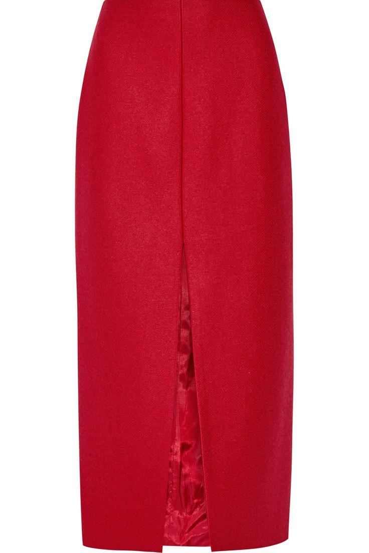 Carven|Wool-blend midi skirt|NET-A-PORTER.COM