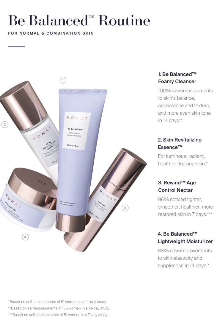 Be Balanced Monat Skin Care Routine Visit My Website For Your Free Skin Quiz Let Me Guide You To More Healthier Skin With This Amazi Monat Hair Monat My Monat