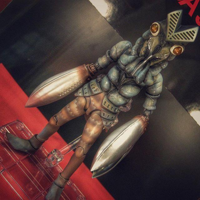 """フォフォフォ… SHフィギュアーツ バルタン星人 """"#AlienBaltan/#バルタン星人"""" from """"#Ultraman/#ウルトラマン"""", sample of #Bandai's SH#Figuarts #ActionFigure at showroom of #TamashiiNation, #Akihabara. #ToyRevolution #ToyCrewBuddiesJP"""