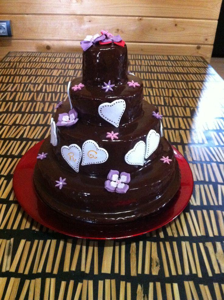 Mi tarta-regalo de boda para mis amigos - Wedding Cake!!
