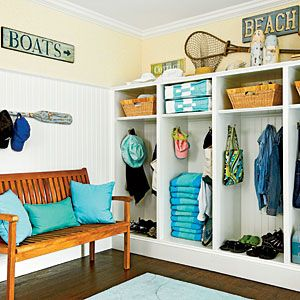 Outfit Your Mudroom | The Locker Room | CoastalLiving.com