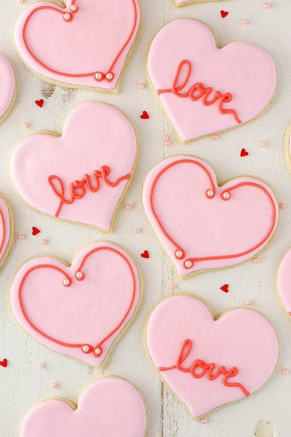 882 best cookies valentine images on Pinterest | Heart cookies ...