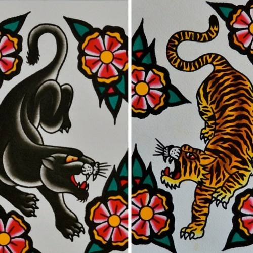 Best 25 traditional tiger tattoo ideas that you will like for Panther tiger tattoo