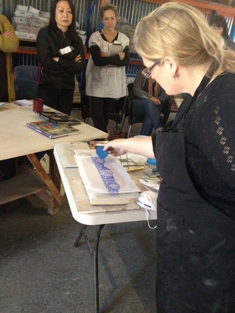 ELAINE BRADLEY: Printing on clay, again.