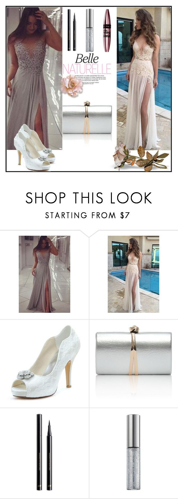 """""""Simi Dress 5 / 10"""" by selmamehic ❤ liked on Polyvore featuring H&M, Urban Decay and Maybelline"""