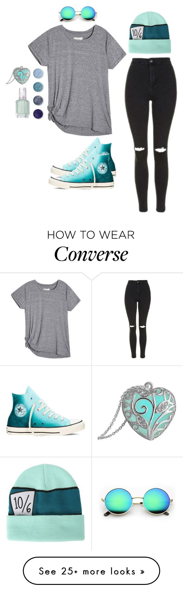 """""""Random #309"""" by kailyn-corey on Polyvore featuring Disney, Topshop, Terre Mère, Essie and Converse"""