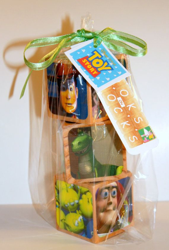 Walt Disney Toy Story Childrens Wooden Book by Booksonblocks