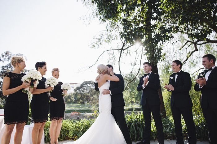 A ceremony in the courtyard of The Garden Room